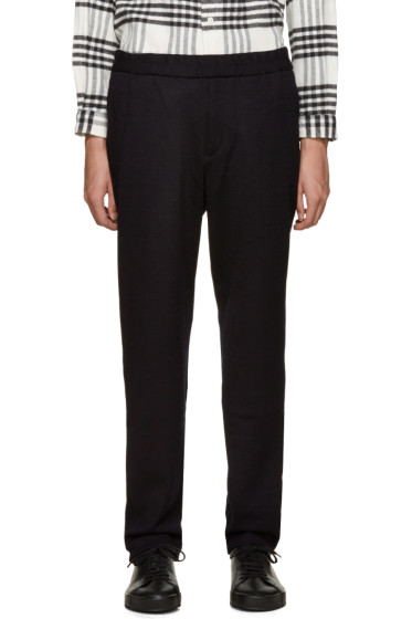 Tomorrowland - Navy Wool Jersey Trousers