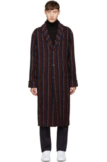 M.R. Editions - Multicolor Long Striped Coat