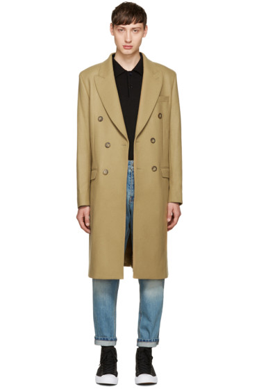 M.R. Editions - Camel Double-Breasted Coat