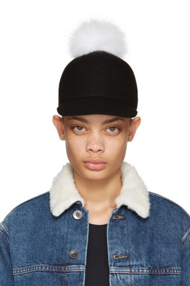 Joshua Sanders - Black & White Pom Pom Cap