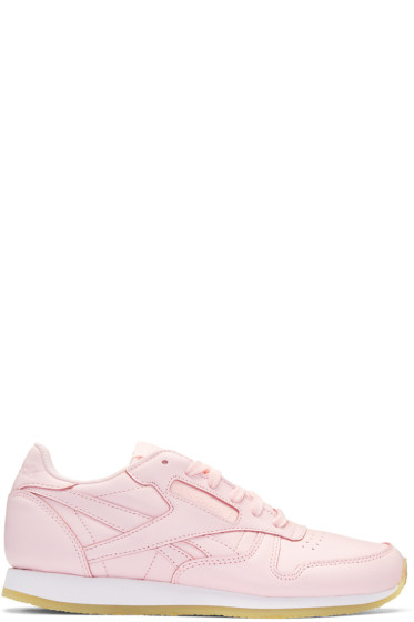 Reebok Classics - Pink Leather Classic Sneakers
