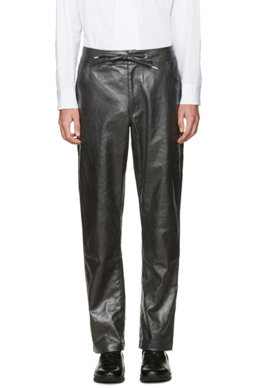 Telfar - Black Coated Denim Trousers