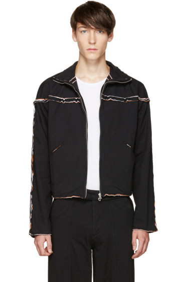 Telfar - Black Layered Zip-Up Sweater
