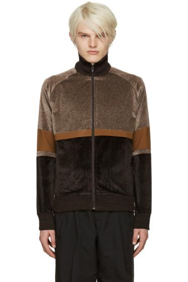 CMMN SWDN - Brown Iggy Track Sweater