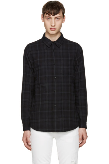 John Elliott - Black Plaid Shirt