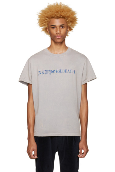 Noon Goons - Grey 'Newport Beach' T-Shirt