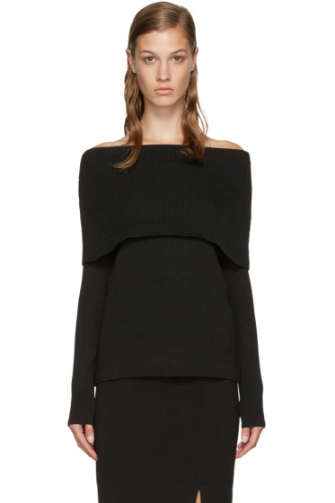 Totême - Black Jaca Off-the-Shoulder Sweater