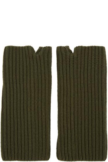 Hyke - Green Wool Wrist Warmers