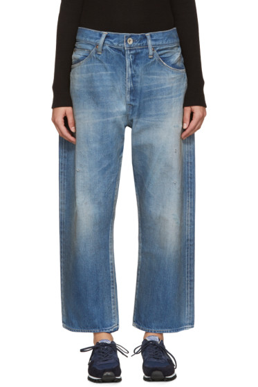 Chimala - Blue Distressed Selvedge Jeans