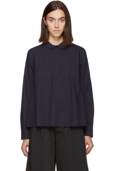 Chimala - Navy Rounded Collar Shirt