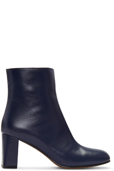 Maryam Nassir Zadeh - Navy Agnes Boots