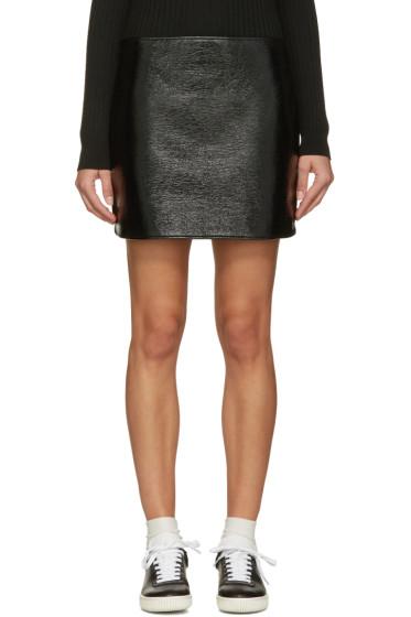 Courrèges - Black Glossy Mini Skirt