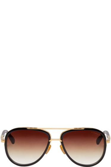 Dita - Black & Gold Mach-Two Aviator Sunglasses