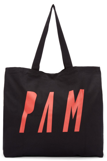 Perks and Mini - Black Logo Tote