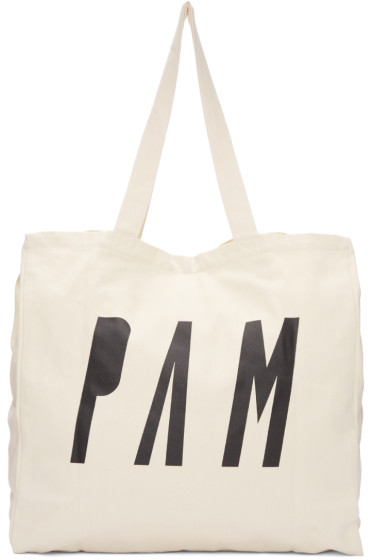 Perks and Mini - Beige Logo Tote