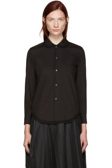 Tricot Comme des Garçons - Black Detail Collar Shirt