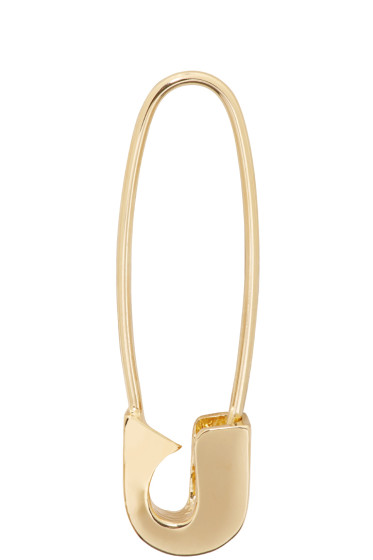 Lauren Klassen - Gold Safety Pin Earring