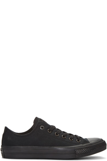 Converse - Black Chuck Taylor All Star II Ox Sneakers
