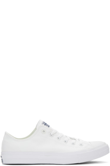 Converse - White Chuck Taylor All Star II Ox Sneakers