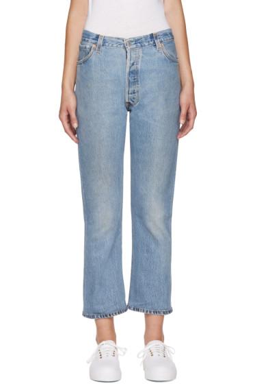 Re/Done - Blue No Destruction Jeans
