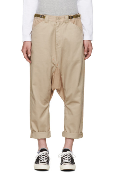 ganryu - Beige Sarouel Trousers
