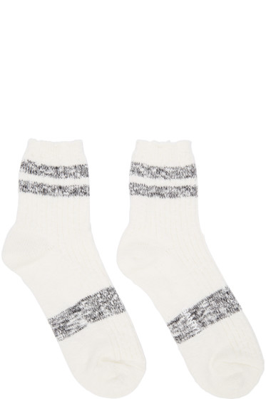 ganryu - White & Black Stripe Socks