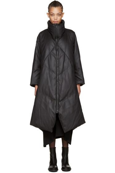 Issey Miyake - Black Long Down Lava Coat