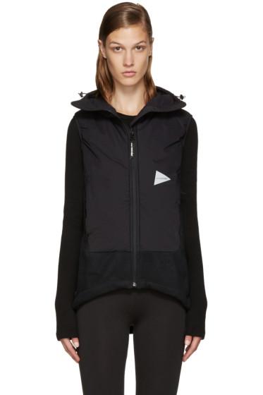 and Wander - Black Twill Fleece Vest