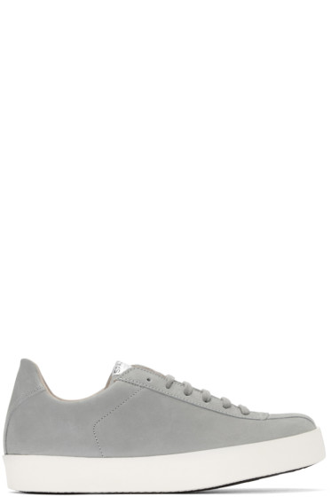 Spalwart - Grey Nubuck Court Sneakers