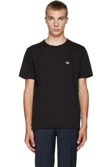 Champion x Beams - Black Jersey Zip T-Shirt