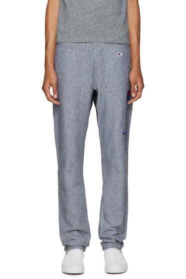 Champion Reverse Weave - Navy Big Logo Lounge Pants