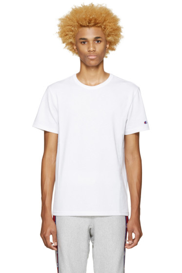 Champion Reverse Weave - White Heavy Jersey T-Shirt