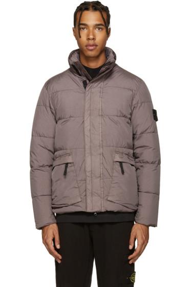 Stone Island - Grey Crinkle Down Jacket