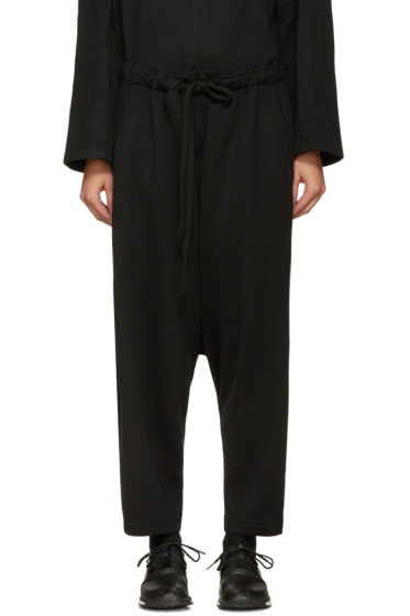 Nocturne #22 - Black Wool Lounge Pants