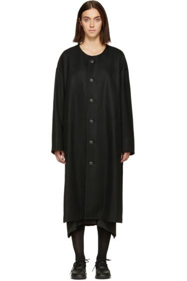 Nocturne #22 - Black Collarless Coat