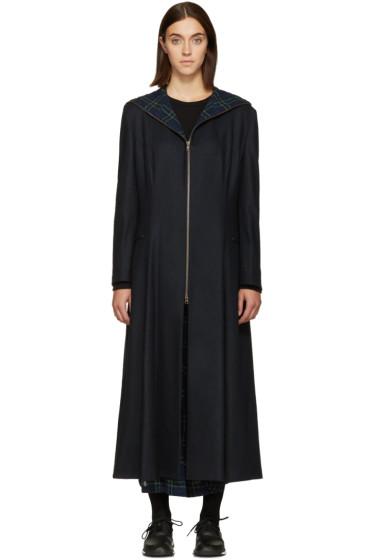 Nocturne #22 - Navy Wool Coat