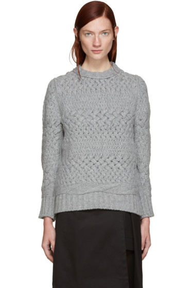 Harikae  - Grey Wool Sweater