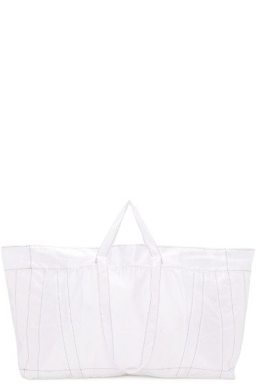 Ribeyron - White Big Shopper Tote
