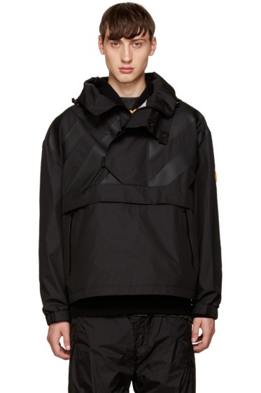 Moncler O - Black Hooded Donville Jacket