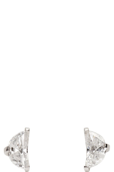Maison Margiela Fine Jewellery - White Gold Split Solitaire Earrings