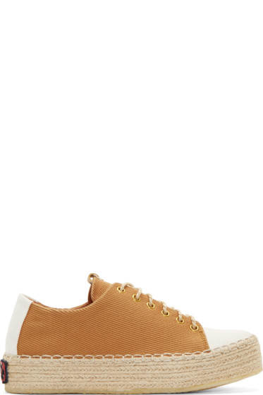 Visvim - Brown Prima Folk Lace-Up Sneakers