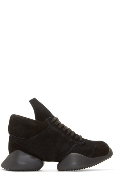 Rick Owens - Black Suede Island Sole adidas by Rick Owens Sneakers