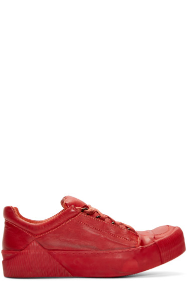 Boris Bidjan Saberi - Red Horse Leather Bamba 2 Sneakers