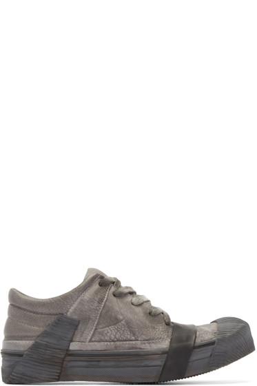 Boris Bidjan Saberi - Grey Leather Bamba 3 Sneakers