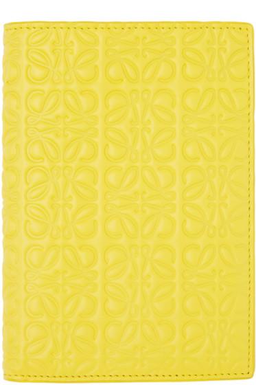 Loewe - Yellow Anagram Passport Holder
