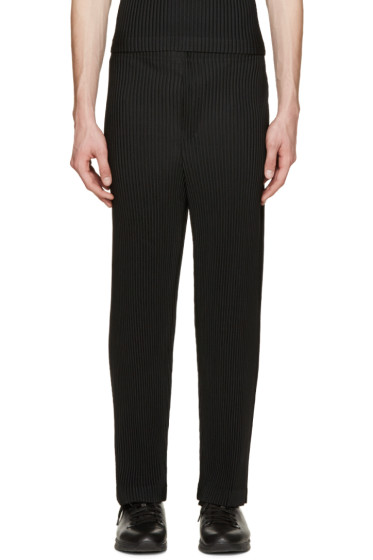 Homme Plissé Issey Miyake - Black Pleated Trousers