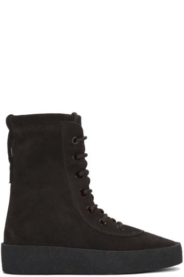 YEEZY Season 2 - Brown Military Crepe Boots