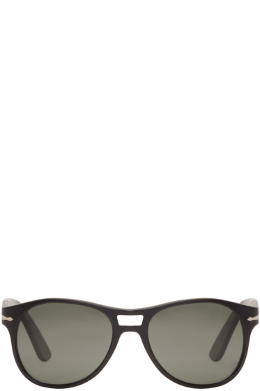 Persol - Black Matte Aviator Sunglasses