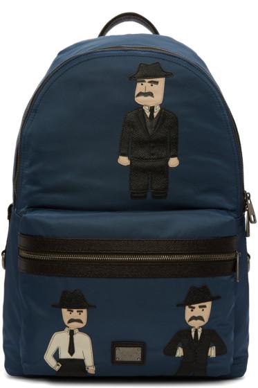 Dolce & Gabbana - Blue Nylon Sicilian Backpack