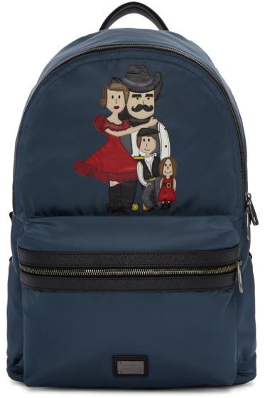 Dolce & Gabbana - Blue Cowboy Family Backpack